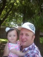 Graham and his beautiful daughter