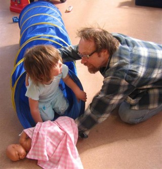 Dave and Sophie at playgroup